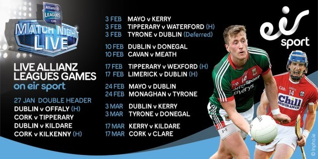 Allianz Leagues 2018 Schedule