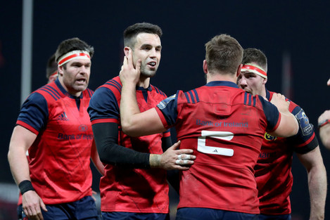 Conor Murray with Rhys Marshall