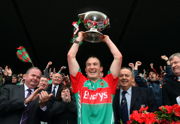 Alan Dillon lifts the cup