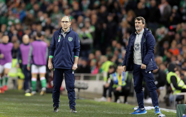 Martin O'Neill with Roy Keane