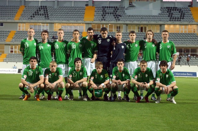 The Ireland Under 17 squad