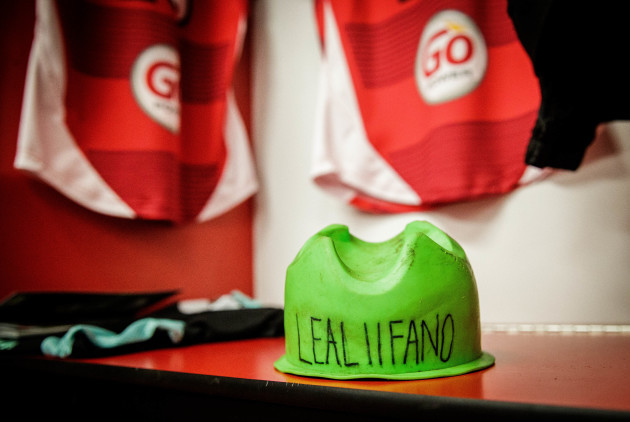 A view Christian Lealiifano's tee ahead of his final Ulster game