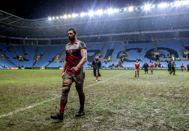 Iain Henderson dejected after the game  21/1/2018