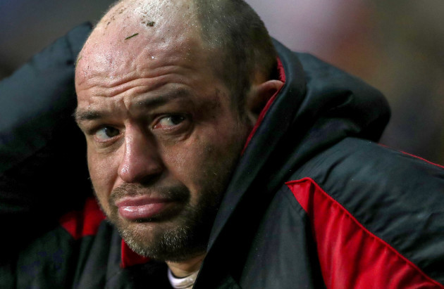 Rory Best dejected late in the game 21/1/2018