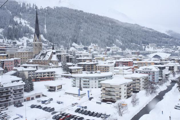 SWITZERLAND-DAVOS-SNOW