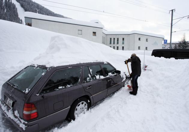 SWITZERLAND-DAVOS-WEF-SNOW