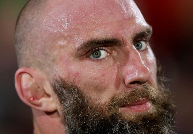 John Muldoon dejected after the game