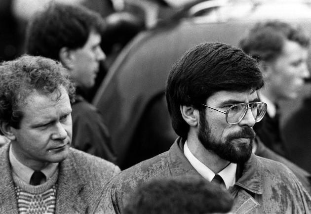 Gerry Adams IRA Coffins