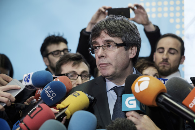 Carles Puigdemont Addresses To The Medias - Brussels