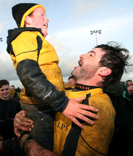 Mark Rooney celebrate with his nephew Alex Carbery