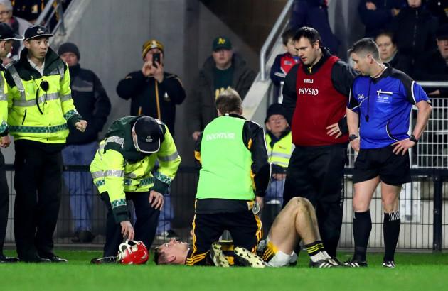 Cillian Buckley injured in the second half