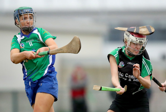 Siobhan Hurley breaks the hurley of Shauna Jordan