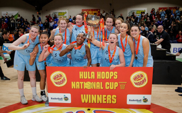 DCU Mercy celebrate winning The Hula-Hoops Women's National Cup