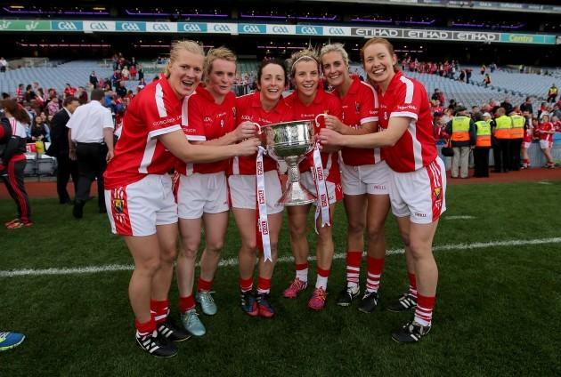 Deirdre O'Reilly, Briege Corkery, Geraldine O'Flynn, Valerie Mulcahy, Brid Stack and Rena Buckley