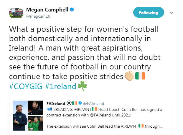 Megan Campbell tweet