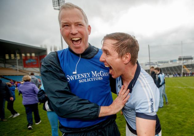 Shane O'Neill and Niall Buckley celebrate