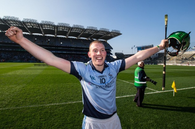 Shane Dowling celebrates after the game