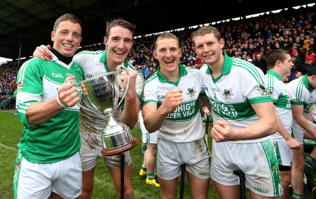 Anthony Nash, Aidan Walsh John McLoughlin and Lorcan McLoughlin celebrate