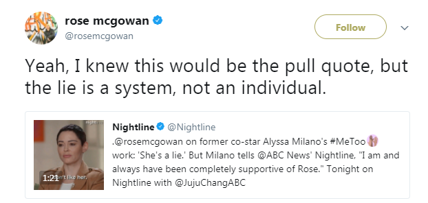 Really. was alyssa milano rose mcgowan lesbian