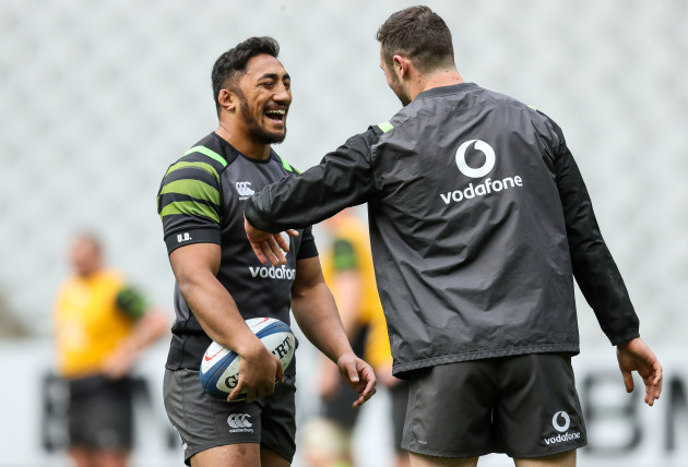Bundee Aki and Robbie Henshaw