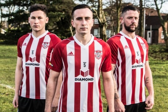 779b6ab32a4 Derry City make switch to Adidas and launch new home kit with Ryan McBride  tribute