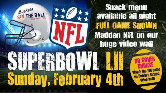 Buskers Super Bowl LII