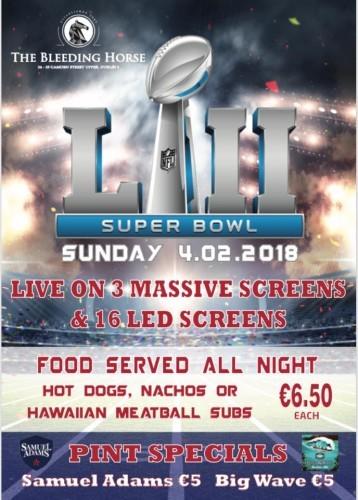 The Bleeding Horse Super Bowl LII