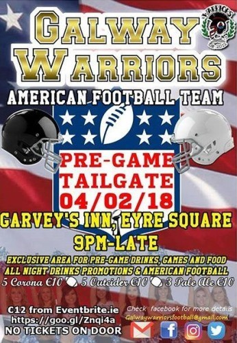 Galway Warriors Super Bowl LII