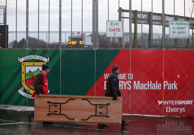 A view of Elverys MacHale Park ahead of the game