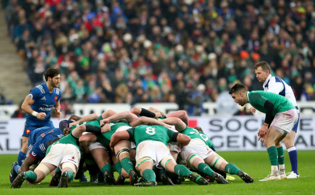 Conor Murray at a scrum