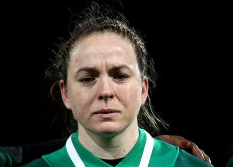 Niamh Briggs during the national anthem