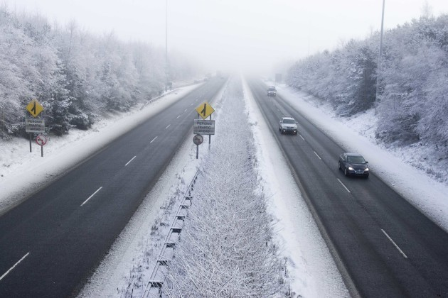 File Photo MOTORISTS ARE BEING warned to take care on the roads as three separate status yellow snow-ice warnings have been issued across the country.