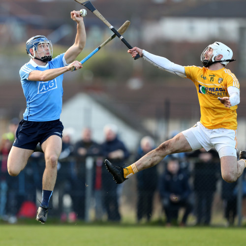 Eoghan O'Donnell in action against Neil McManus