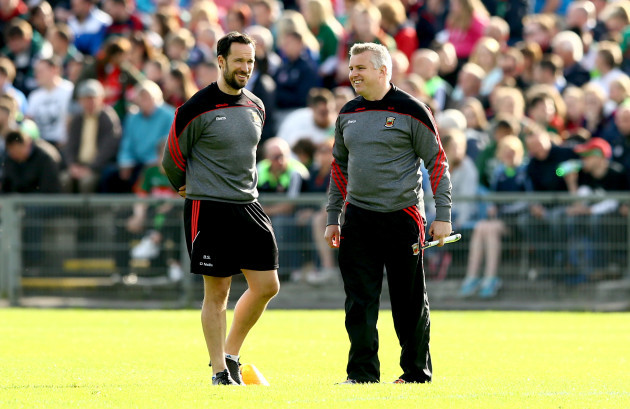 Barry Solan and manager Stephen Rochford