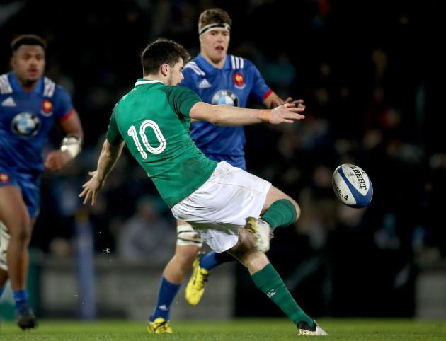 Harry Byrne kicks