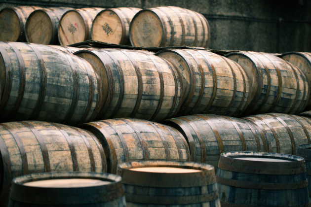 beer barrels stock