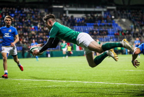 James McCarthy scores his side's fourth try