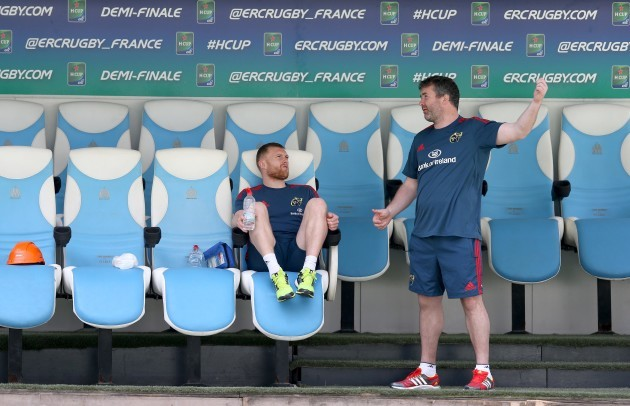 Keith Earls and Anthony Foley
