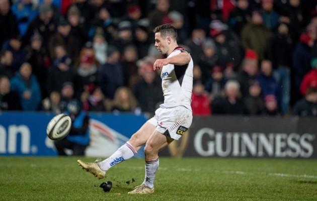 John Cooney kicks a conversion