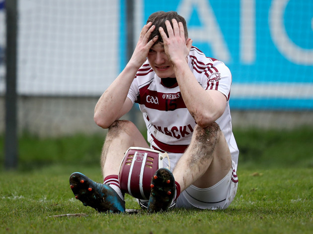 Brian Cassidy dejected after the match