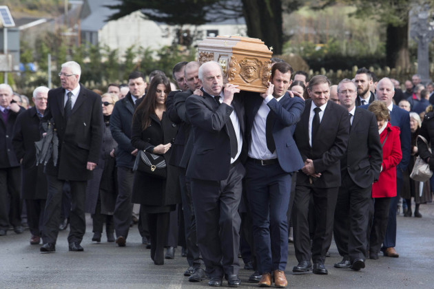 Ireland and Celtic football families attend funeral of Liam Miller