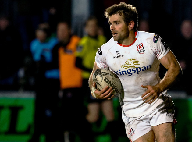 Ulster's Jared Payne scores his side's second try