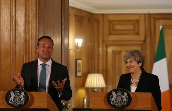 File Photo Varadkar to meet Theresa May in Belfast today ahead of last-chance Stormont talks End.