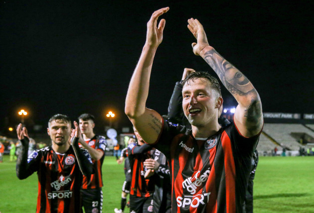 Rob Cornwall celebrates after the game