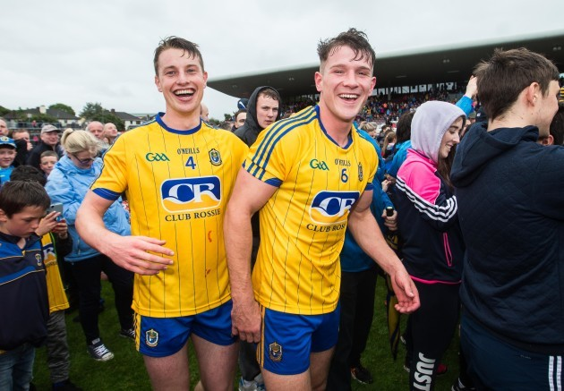 Niall McInerney and Sean Mullooly  celebrates after the game