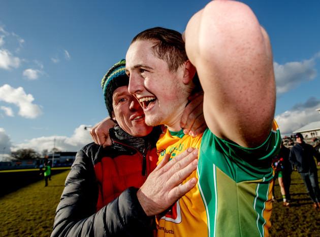 Kieran Molloy celebrates after the game
