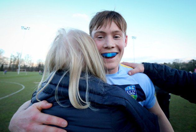 Con O'Callaghan celebrates after the game