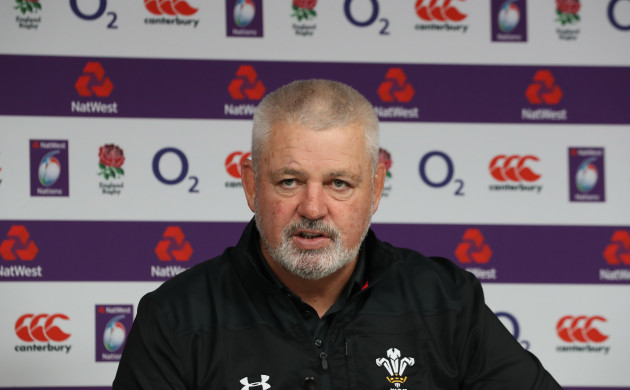 Warren Gatland during the post match press conference