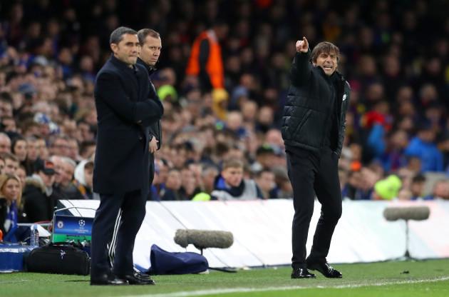Chelsea v Barcelona - UEFA Champions League - Round of Sixteen - First Leg - Stamford Bridge