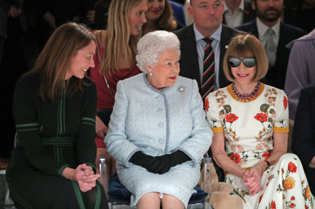 Royal visit to London Fashion Week